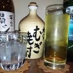アイリス - 焼酎(ロック、緑茶割り)