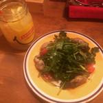 ビストロ Gonzo - パクチーと牡蠣のサラダ