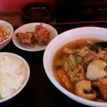風味定食屋 - 五目ラーメン定食 ¥850