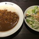CoCo壱番屋 - ポークカレー ¥463 + 4辛 ¥84 + シーザーサラダ ¥258