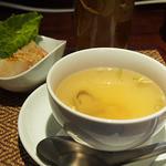 タイレストラン Smile Thailand - ランチスープと春巻