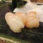 鮨おばな - 海老の旨みも素晴らしい。