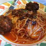 ルージュトマト - 豚スペアリブとトレビスのトマトソース