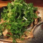 麺志 - 大量のネギ