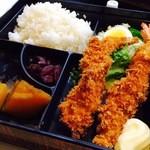 喫茶翡翠 - エビフライ定食(1200円)