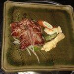 飛騨牛かわい - 陣屋コースのメインのステーキです。