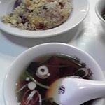 源来軒 - 海老炒飯とスープ