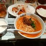 陳麻家 - 【2016.2.3(水)】日替定食(特製ソースからあげ+半担々麺)850円→550円