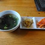 47103041 - わかめスープ・ナムル・キムチ