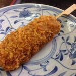 麺喰 - 謎の串揚げ90円