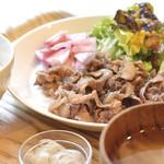 南あわじ美食農園オリザ - 猪肉のしょうが焼定食