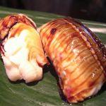 みなと寿司 - とり貝、あおやぎ、穴子、芽ねぎ、北奇貝、たいら貝、しゃこ、かんぱち
