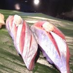 みなと寿司 - 赤身、あじ、いか、サーモン、〆さば、小柱、赤貝ひも