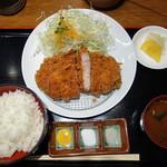 Katougyuunikutenshibutsuu - ロースかつ定食