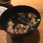 和牛贅沢重専門店 神楽坂 翔山亭 - 最後はお茶漬け(^∇^)♪