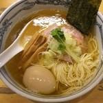 47115625 - 塩らーめん¥750+半熟味付玉子¥100(H28.1.14撮影)