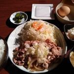 47115789 - (ランチ)豚肉のネギ塩焼き定食