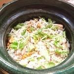豪龍久保 - 松葉蟹と背子蟹の炊き込みご飯