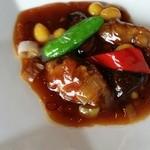 Ryuutenrou - 牡蠣の辛し炒め。銀杏がアクセントの美味しい炒めもの。