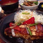 平和島パーキングエリア(上り)スナックコーナー - 三元豚トンテキ定食 ¥850