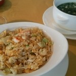 上海 小南国 - ランチコースの蟹炒飯