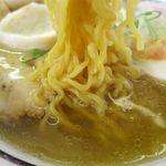 味源 - 昔風しおらーめんの麺
