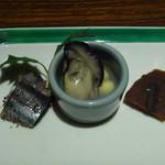 螢月 - 牡蠣・秋刀魚のゆかりあえ・柚子干し