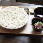 ごはんcafe両子の庄  - ネギトロ丼と秋田稲庭うどん膳