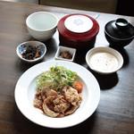 ごはんcafe両子の庄  - 笑子豚の生姜焼き膳