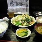 太田や食堂 - 野菜いため定食