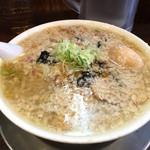 らーめん潤 亀戸店 - 中華そば鬼油(760円)+麺中盛(80円)