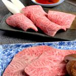 本格焼肉 寿香苑 あまつぼ - 看板メニューのざぶとん&みすじ。ハーフでの提供もしています!