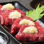 本格焼肉 寿香苑 あまつぼ - ファン多数のヒレにんにく。これを食べに来る方も多い!