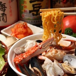 肉を食べた後、海鮮でサッパリ