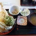 友福丸 - 天丼ランチ850円
