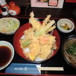 藍 - 料理写真:天丼定食