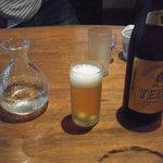 そば 三休 - ビール&日本酒