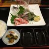 地球食堂 - 料理写真:アジ刺身定食