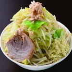 ジャンクガレッジ - ラーメン野菜W 全増し