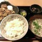 にし富 - 牛すき定食700円