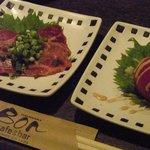 ボン - 喫茶ボン 牛肉のたたきとトマトサラダ!美味しかったです