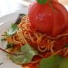 ハッタンドウ - 料理写真:まるごとトマト(ランチセット\920税込み)ドリンク、サラダ付きます
