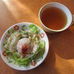 サイゼリヤ - サラダ、スープ(2016/01/27撮影)