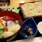 47158163 - ランチの海鮮丼セット1,150円+税