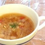 パン屋喫茶 大和 - 野菜たっぷりの食べるスープ!!
