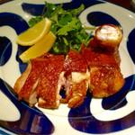 中華旬彩 森本 - 丹波地鶏の腿の脆皮鶏