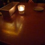 パイル カフェ エビス - マドレーヌ型が灰皿、パウンドケーキ型がカトラリー入れw