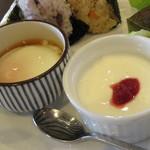 葉菜cafe - ヨーグルトと温泉玉子