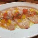 スペインバル ピー - 白身魚のカルパッチョ!