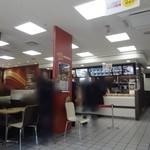 マクドナルド - 店内は、混んでました